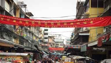 Chinatown Markt in Bangkok Thailand Sehenswürdigkeiten
