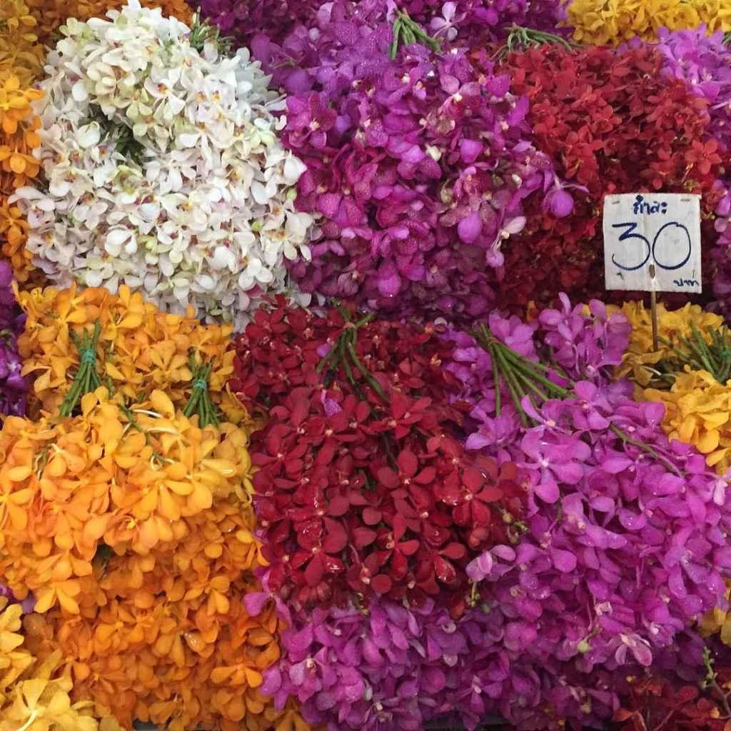 Pak Khlong Talat Blumenmarkt Bangkok Thailand Sehenswürdigkeiten