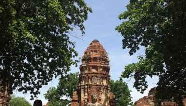 Tempelruine in Ayutthaya