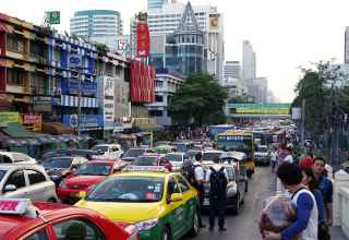Hauptverkehrszeiten in Bangkok