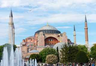 Blick auf die Hagia Sophia in Sitanbul